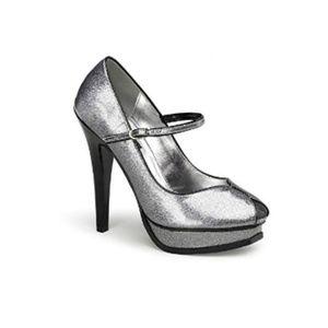Pin Up Couture   Silver Platform Pleasure Heels
